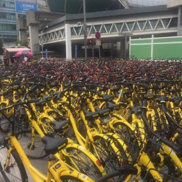 上海で自転車多すぎる。。。の件