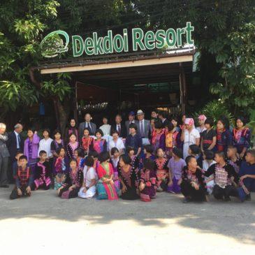 タイ山岳民族へ日本の文具を寄付